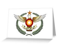 Qatar Air Force Emblem Greeting Card
