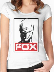 The Fox 02 Women's Fitted Scoop T-Shirt