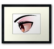 Anime eye Framed Print