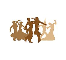 Flamenco Dancers Illustration  Photographic Print