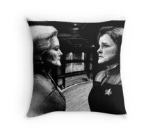 The Admiral and the Captain Throw Pillow