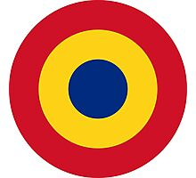 Roundel of the Romanian Air Force Photographic Print