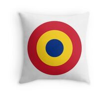 Roundel of the Romanian Air Force Throw Pillow