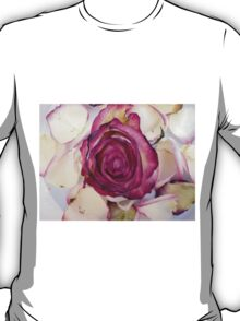 Pink rose with petals 3 T-Shirt