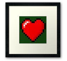 Zelda Heart. - Pixel  Framed Print