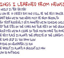 Things I Learned From Newsies by madiluvsnewsies