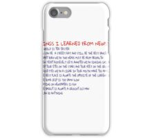 Things I Learned From Newsies iPhone Case/Skin