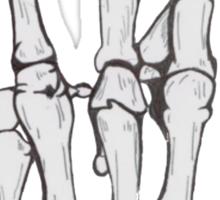 Skeleton hand | White Sticker