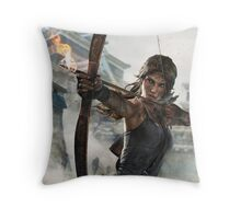 Tomb Raider - Lara Croft, Fire bow Throw Pillow