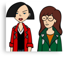 Daria + Jane Canvas Print