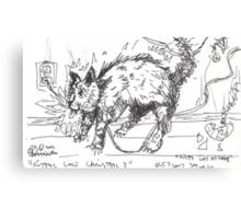 KITTYS LAST CHRISTMAS(C2007) Canvas Print