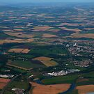Ariel View Inverurie and Papermill by Suzanne Forbes-Murray