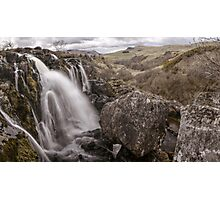 Loup of Fintry waterfall Photographic Print