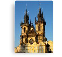 Gothic church spires (Prague) Canvas Print