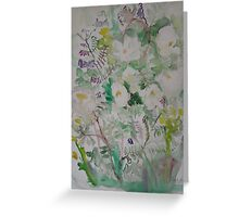 Midsummer roses triptych 3 Greeting Card