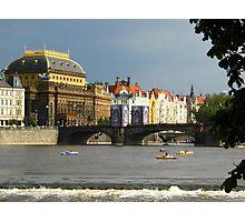 View across River Vitava (Prague) Photographic Print