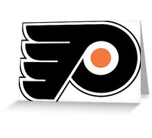 Simple Philadelphia Flyers logo Greeting Card