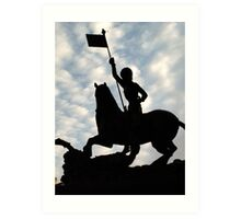 St George slaying the Dragon, Prague Castle Art Print