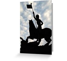 St George slaying the Dragon, Prague Castle Greeting Card
