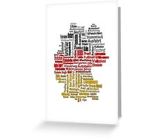 Germany Map Greeting Card