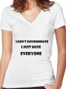 HUMOUR Women's Fitted V-Neck T-Shirt