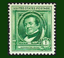 Washington Irving Stamp 1940 by JoAnnFineArt