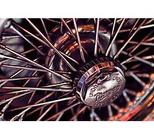 Morgan Wire Wheel Photographic Print