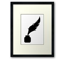 Feather ink writer Framed Print