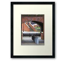 footway, waterway, railway (Manchester) Framed Print