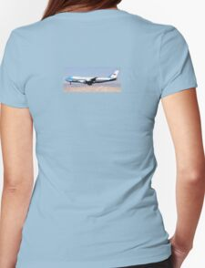AIR FORCE ONE OVER PALM SPRINGS Womens Fitted T-Shirt