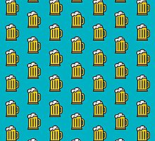 Beer Pattern - Drinks Series by Icon Prints