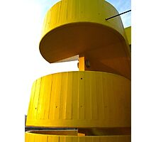 Concrete stairs, in yellow (London) Photographic Print