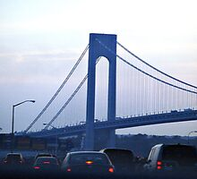 --Rush Hour on the Verrazano Bridge by Sassafras