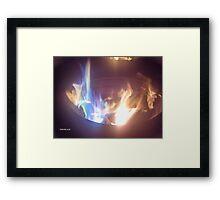 Blue Flame Framed Print