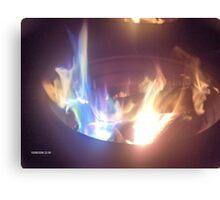 Blue Flame Canvas Print