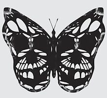 The Skulled Butterfly by VECTORDOWNPOUR
