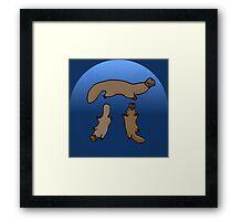 """Platypi"" -- Three Platypuses Greek Pi Framed Print"