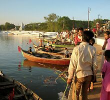 Immersion ceremony of Goddess Durga in the lake by nisheedhi