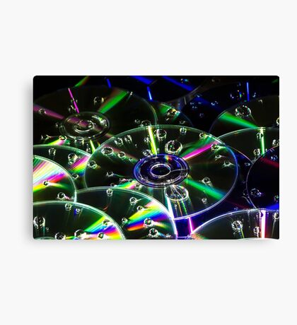 Cd & Water abstract Canvas Print