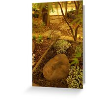 A Face in the Garden  Greeting Card