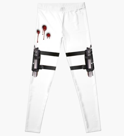 GUN BELT AND BULLET HOLES Leggings