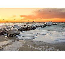 Long Beach Winter Dawn Photographic Print