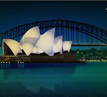 Sydney Harbor by Lara Allport