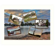 A collage of the Mighty Murray. Mannum Art Print