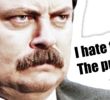 PARKS AND REC RON SWANSON (QUOTE ABOUT THE PUBLIC) Sticker