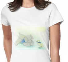 Rosie Dog playtime Womens Fitted T-Shirt