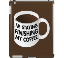 Walter I'm Staying Mug iPad Case/Skin