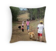 Children and Their Dogs Throw Pillow