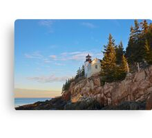 Morning At Bass Harbor Light, Maine Canvas Print