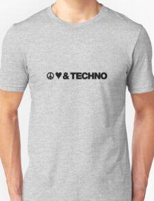 Peace, Love, & Techno T-Shirt